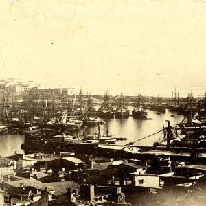Il Porto di Genova nel 1865 Particolare con la Darsena