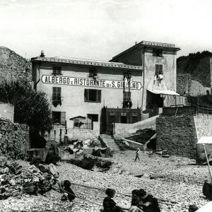 Albergo, ristorante e bagni san Giuliano, Genova, 1900