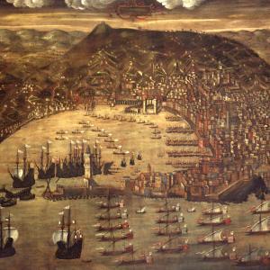 """Cristoforo Grassi """"Veduta di Genova nel 1481"""""""