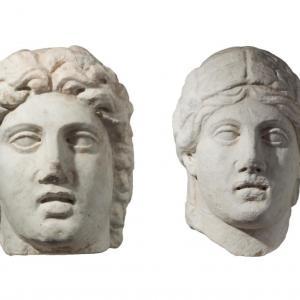 Teste di Cerere e Apollo
